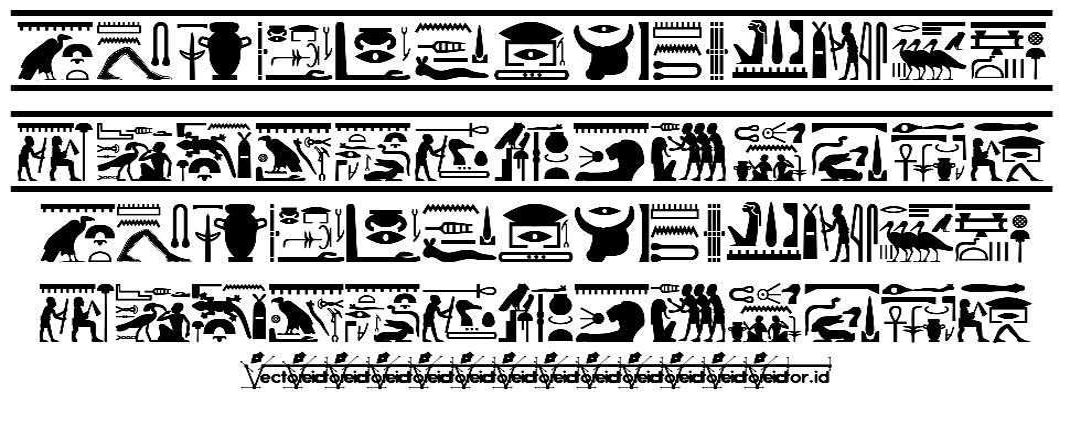 Fonts Vector Hieroglyps font