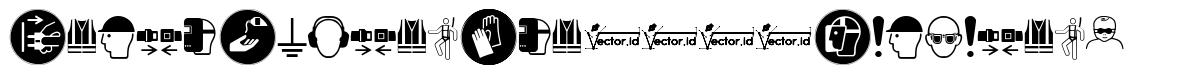 Fonts Vector Iso 7010 Mandatory font