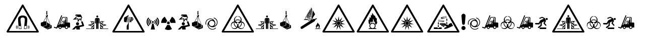 Fonts Vector Iso 7010 Warning Sign font