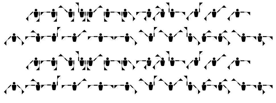 Fonts Vector Semaphore Flag font