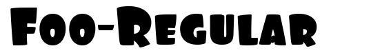 Foo-Regular font