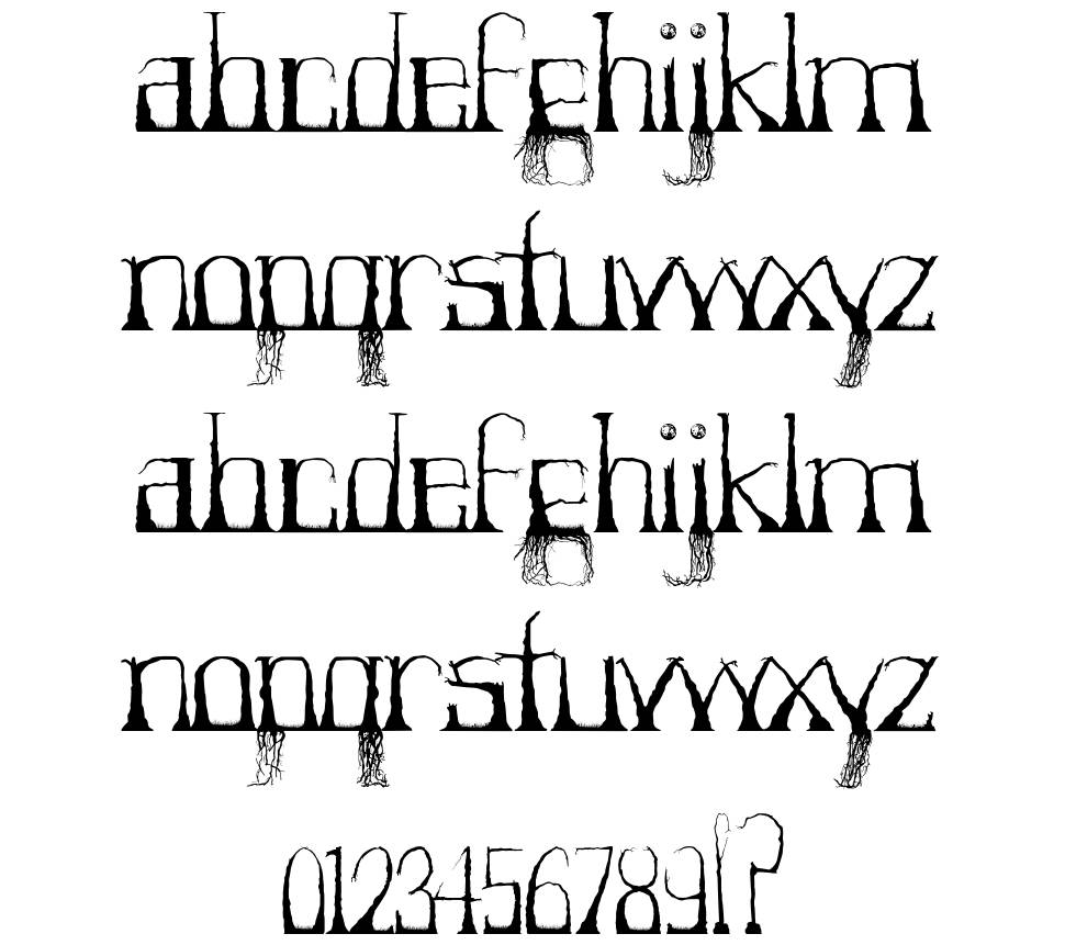 Forestry font