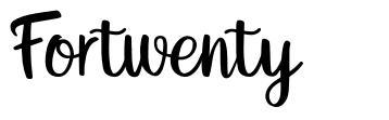 Fortwenty шрифт