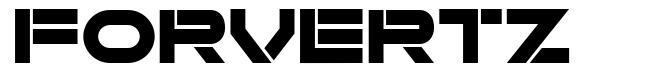 Forvertz font