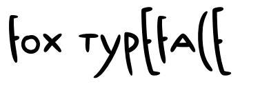 Fox Typeface 字形