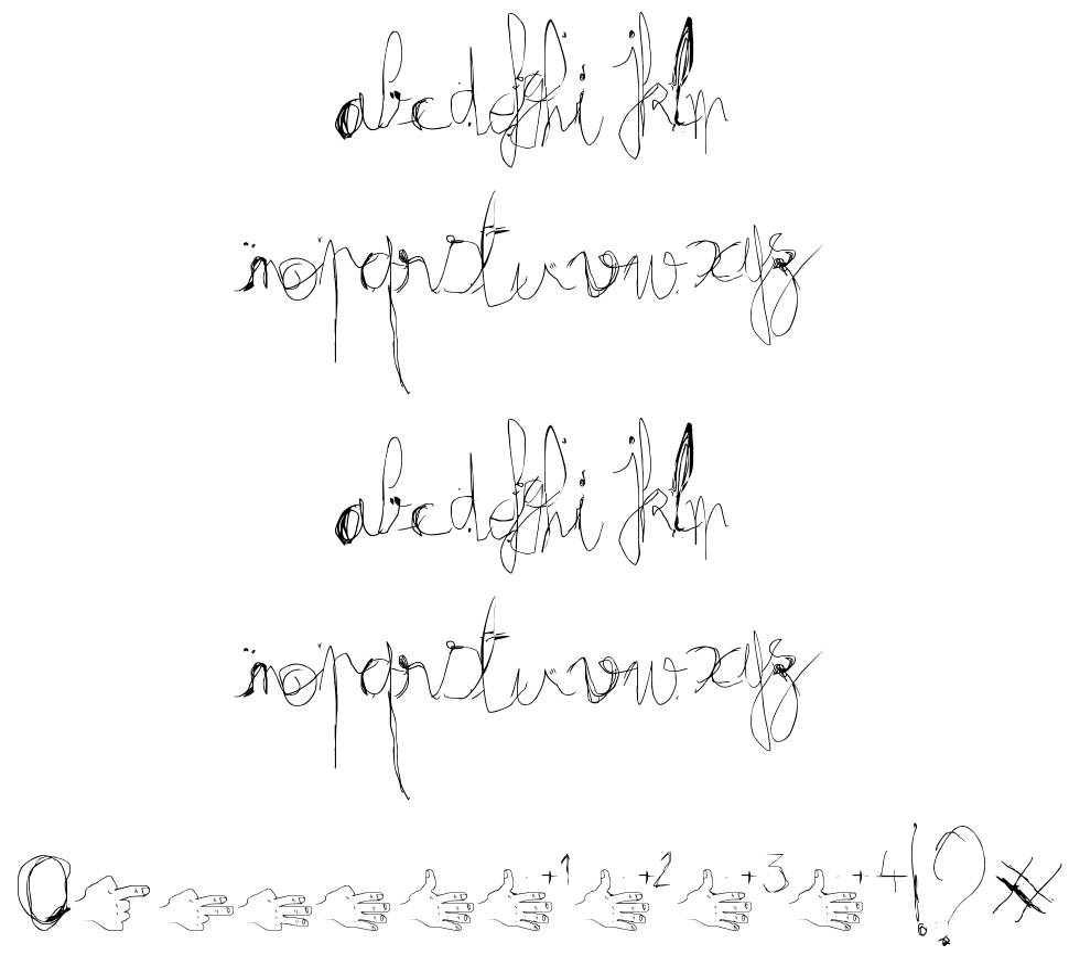Fractrish font