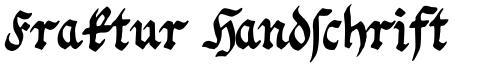 Fraktur Handschrift