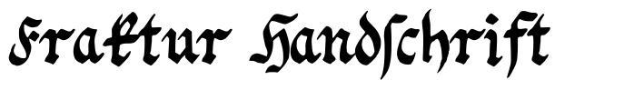 Fraktur Handschrift font