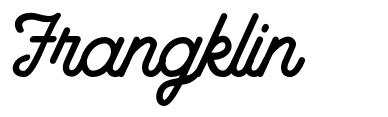 Frangklin czcionkę