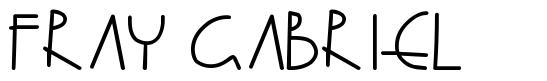 Fray Gabriel font