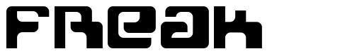 Freak font