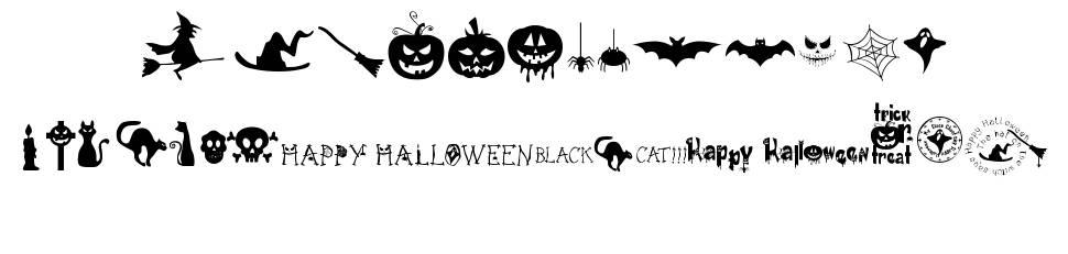 Freaky Halloween шрифт