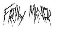 Freaky Manor font