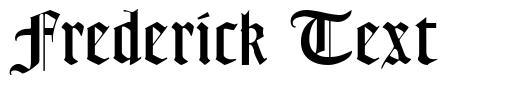 Frederick Text