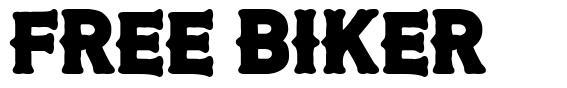 Free Biker font