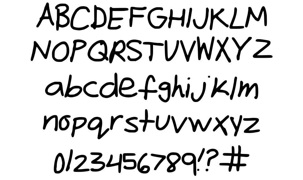 Freehand font