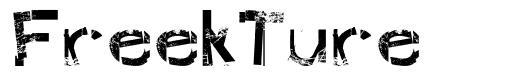 FreekTure font