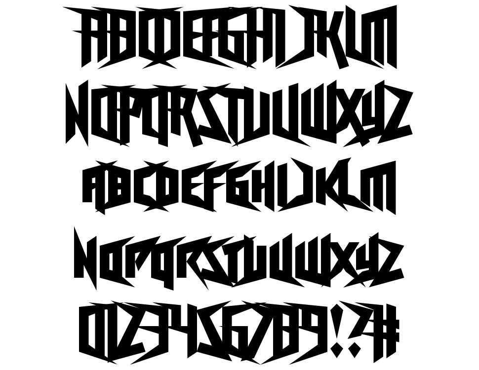 Freestyling Centipede font