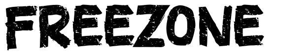 Freezone schriftart