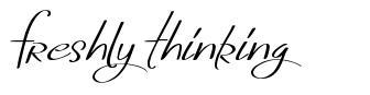 Freshly Thinking font