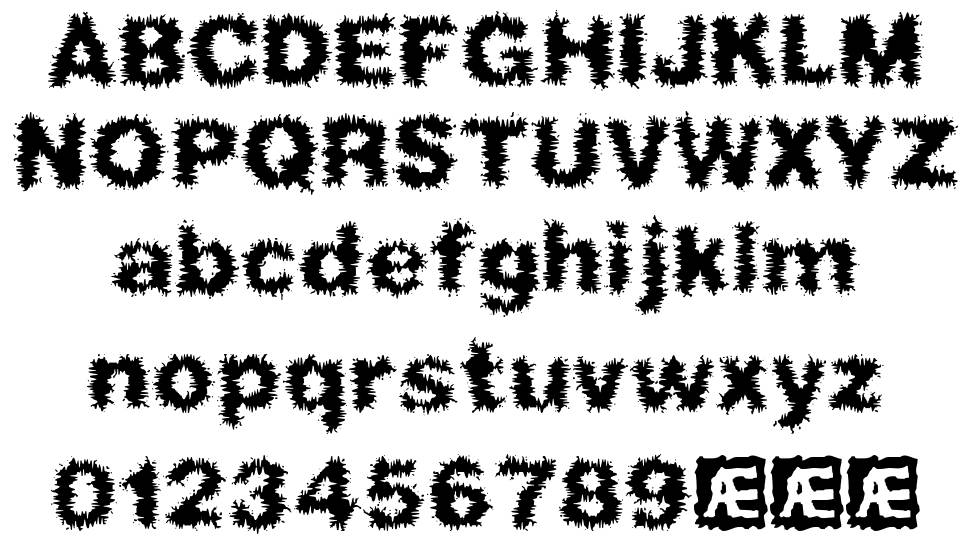 Frizzed BRK font