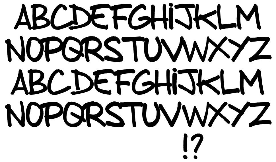 From brush to caps font