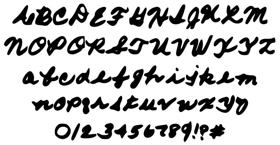 From Moms Hand font
