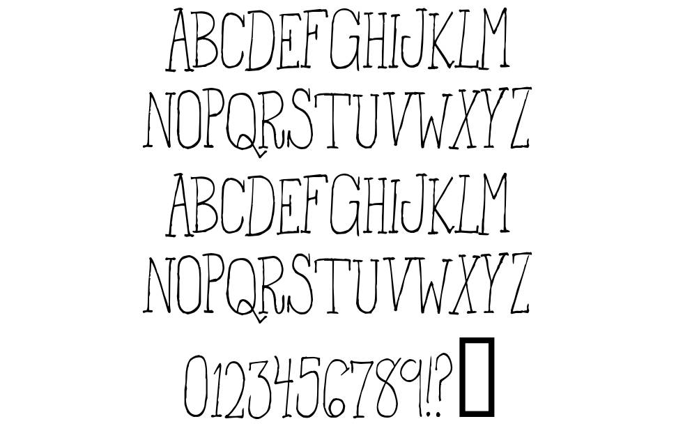 From the Woods font
