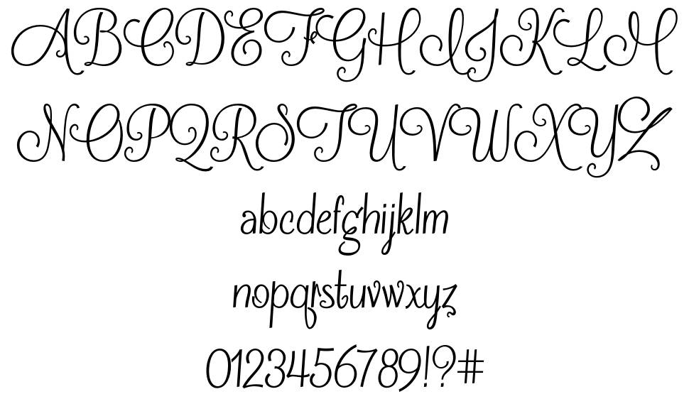 Frosting for Breakfast font