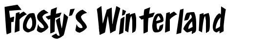 Frosty's Winterland font