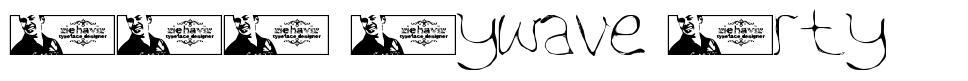 FTF Aywave Arty font