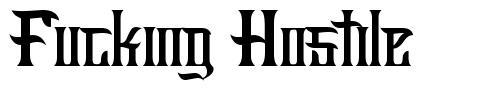 Fucking Hostile font