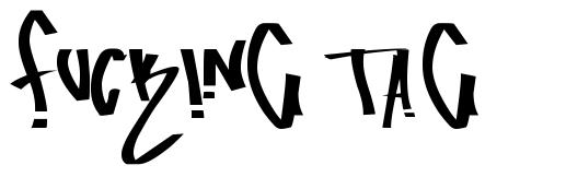 Fucking Tag font