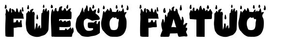 Fuego Fatuo font