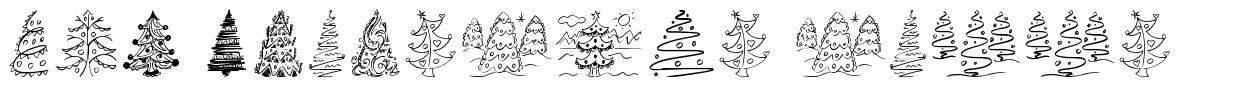 Fun Christmas Trees font