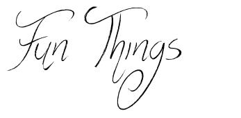 Fun Things font