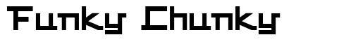 Funky Chunky font