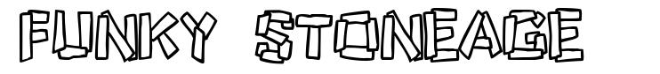 Funky Stoneage font