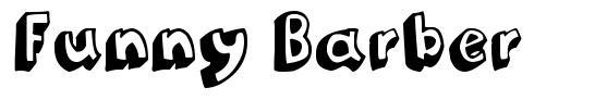 Funny Barber font