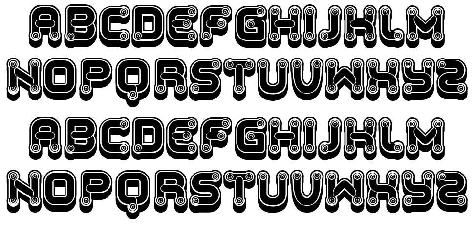 Funny Gradients font