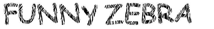 Funny Zebra font