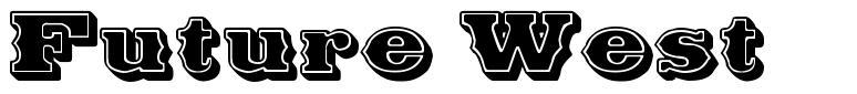 Future West 字形
