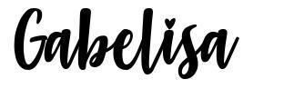 Gabelisa font