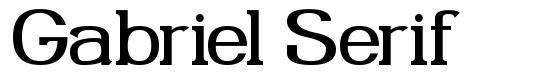 Gabriel Serif font