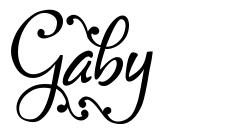 Gaby font