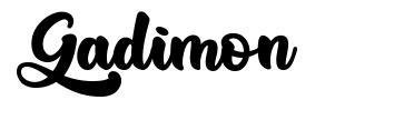 Gadimon font