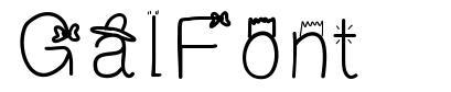 GalFont font