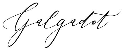 Galgadot font