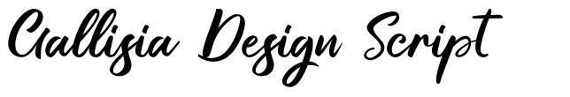 Gallisia Design Script schriftart