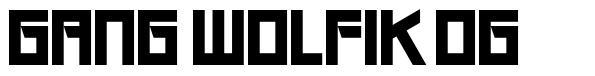 Gang Wolfik OG шрифт
